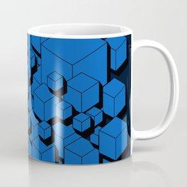 3D Cobalt blue Cubes Coffee Mug