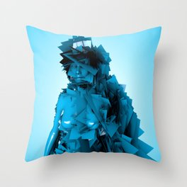 Blue Fairy Throw Pillow