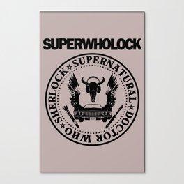 Superwholock Band Logo Canvas Print
