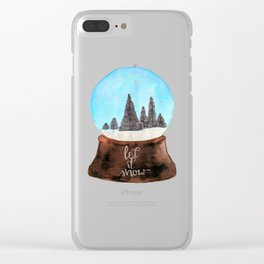 Let it Snow(globe) Clear iPhone Case