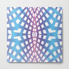 Abstract geometric line design Metal Print