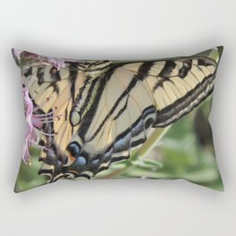 Western Tiger Swallowtail on Lemon Blossoms Rectangular Pillow