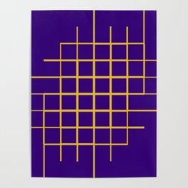 Blue & Gold Matrix Poster