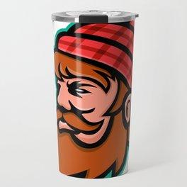 Paul Bunyan Lumberjack Mascot Travel Mug