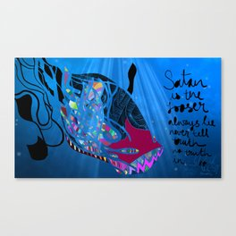 John 8/44+TheFish Nonrandom-art2 Canvas Print
