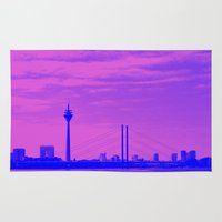 cityscape Area & Throw Rugs featuring Cityscape by DuniStudioDesign