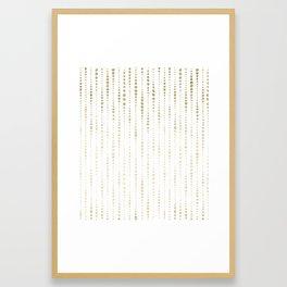NYC Nights Gold Polka Dot Stripes Framed Art Print