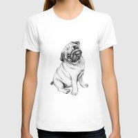 pug T-shirts featuring Pug by Maripili