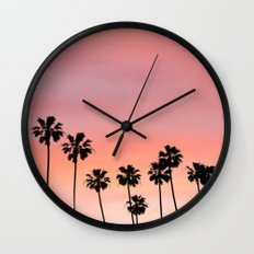 Blushing Palms Wall Clock