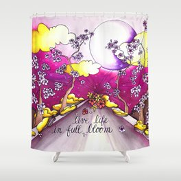 live life in bloom Shower Curtain