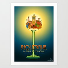 Riquewihr Travel Poster Art Print