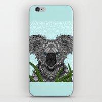 koala iPhone & iPod Skins featuring Koala by ArtLovePassion