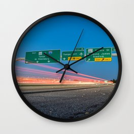 Highway to Light Wall Clock