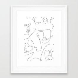 Crowd Portrait Framed Art Print