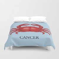 cancer Duvet Covers featuring Cancer by Dano77