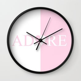 ADORE Amour Love Heart Design Wall Clock