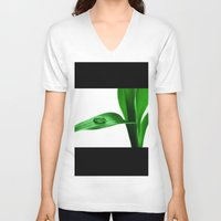bamboo V-neck T-shirts featuring bamboo by Falko Follert Art-FF77