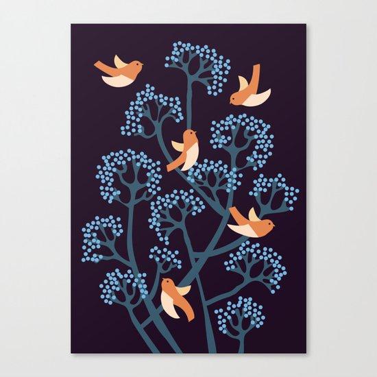 Birds Are singing Canvas Print