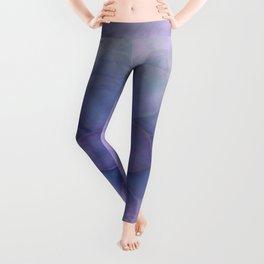 Lavender Succulent Leggings