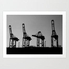 Saluting Cranes Art Print