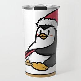 sled penguin Travel Mug