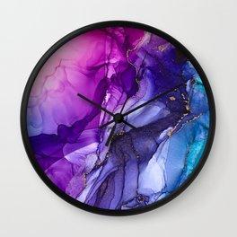 Abstract Vibrant Rainbow Ombre Wall Clock