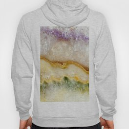 Striated Amethyst in Purple Gold & Green Hoody