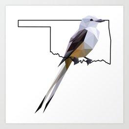 Oklahoma – Scissor-Tailed Flycatcher Art Print