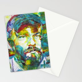 PHILIP K. DICK watercolor and acrylic portrait.1 Stationery Cards