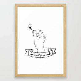 Gentiment Framed Art Print
