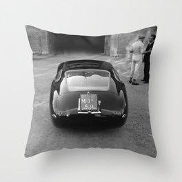1957 4.5 Coupe, Modena, Italy Italian Sport Car Factory Photograph Throw Pillow
