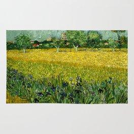 Vincent Van Gogh - Field with flowers near Arles Rug