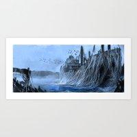 Wrecked Ship Art Print