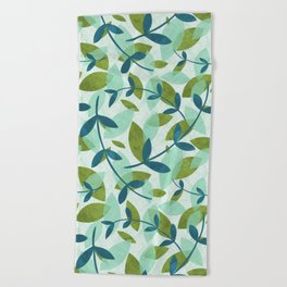 Simple Leaves Beach Towel