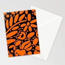 Beautiful Orange Otomi Stationery Cards