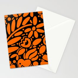 Beautiful Orange Otomi Stationery Cards