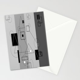 Gray Geometry 3 Stationery Cards