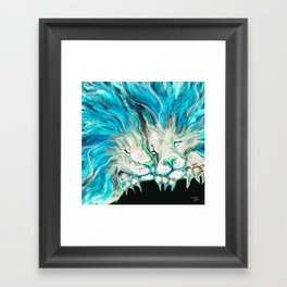 Lion Dreams Framed Art Print