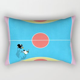 Basketball Court Pastel Colors  Rectangular Pillow