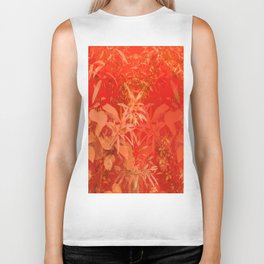 Beautiful red foliages - illustration of garden Biker Tank
