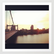 Hennepin Ave Bridge Art Print