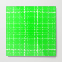 jagged, green Metal Print