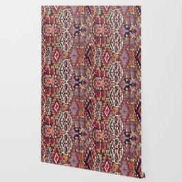 Kolyai Long Antique Persian Kurdish Rug Wallpaper