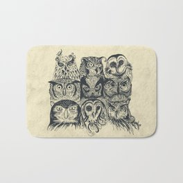 Nine Owls Bath Mat