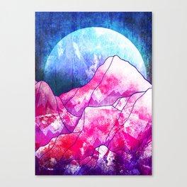 The blue planet rises Canvas Print