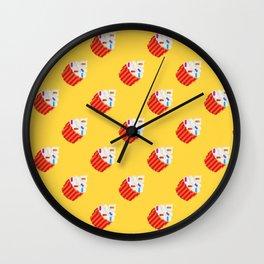 Sprinkles Cupcake Pattern Wall Clock