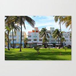 Retro Miami Canvas Print
