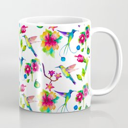 Spring, flowers and colibry Coffee Mug