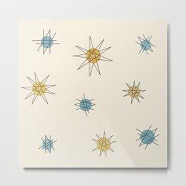 Atomic Age Sputnik Starburst Planets Metal Print
