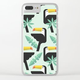 Abstract Pattern with Toucan bird texture Clear iPhone Case